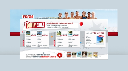 Dailyquiz FRAM : and the winner is... Nathalie Périllat (CWT) de Annecy !