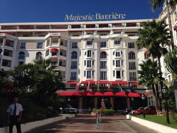 L'hôtel Narrière Majestic de Cannes - photo : Luna N sous license créative commons