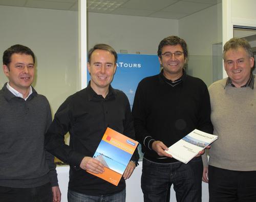 Pascal Villa, directeur financier, Philippe Sangouard directeur commercial, Oliver Kervella président de NG Travel et Christian Mazeau