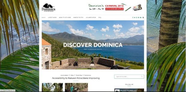 """copie d'écran """"discover dominica"""""""