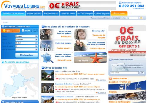 Le site B2C de Voyages Loisirs