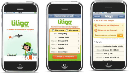 liligo lance son application iPhone