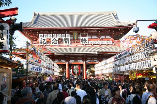 Le temple de Sensoji à Tokyo