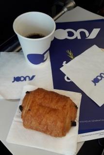 2,5€ le pain au chocolat, mais il est vraiment bon, bio et servi tiède ! - Photo CH