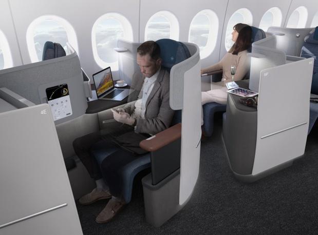 La future Business Class de Lufthansa sera disponible sur ses lignes régulières à partir de 2020, avec le déploiement du Boeing 777-9 - Photo Lufthansa