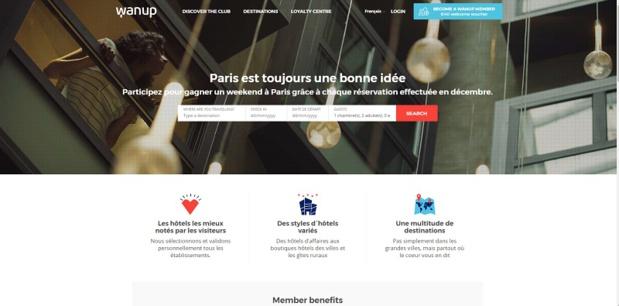 Wanup est un programme de fidélité hôtelière Crédit : Wanup