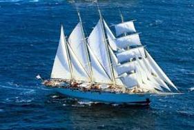 Le Star Clipper, 4 mâts, copie des anciens clippers du XIX° siècle