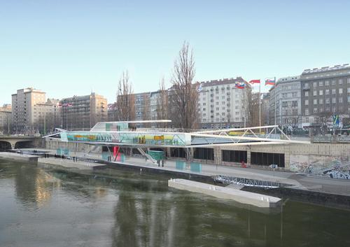 Un nouvel embarcadère dans la vieille ville, à Vienne en Autriche
