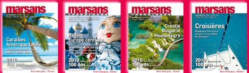 Les 4 brochures été 2010 de Marsans