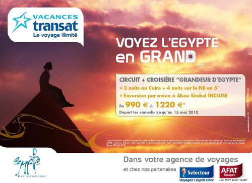 Vacances Transat met l'Egypte à l'honneur dans le métro