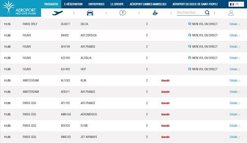 Aéroport de Nice : plusieurs vols annulés et retardés ce lundi