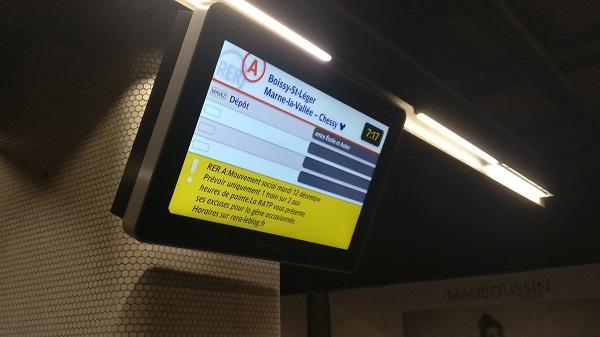 France-Trafic RER perturbé mardi après un appel à la grève