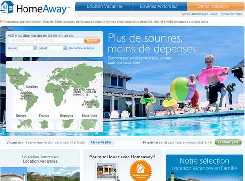 HomeAway joue les intermédiaires entre propriétaires et vacanciers