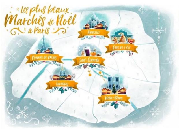 """Le site #FeelParis dénombre les """"plus beaux marchés de Noël"""" de la capitale - DR FeelParis"""