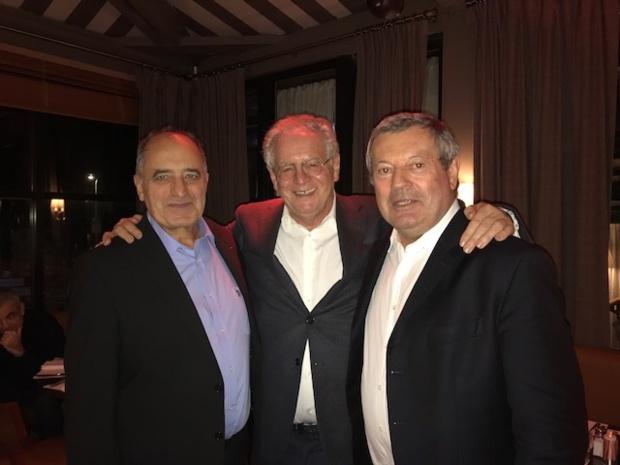 Jean-Pierre Mas président des EDV, René-Marc Chikli président du SETO et Roland Héguy président de l'UMIH et de la confédération - Photo DG