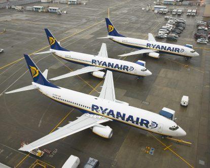 Trois appareils de Ryanair sur le tarmac - Photo Ryanair