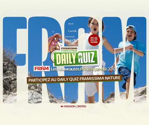 Fram : Daily Quizz spécial sur le Framissima Nature de Soustons