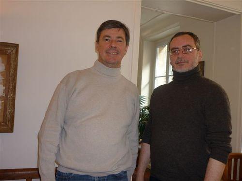 Didier Rabaux directeur de Visiteurs et Eric Savournin, directeur de la production Visiteurs Amériques