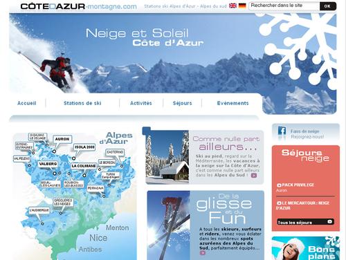 La Côte d'Azur lance un site web sur ses stations de ski