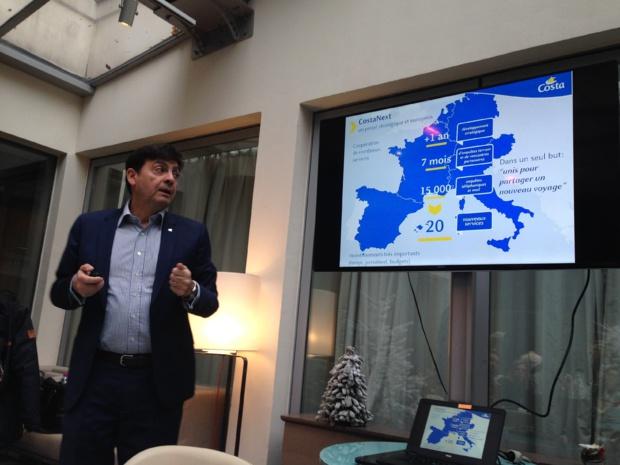 Georges Azouze, président de Costa Croisières France, a présenté ce mardi 19 décembre son programme CostaNext. - CL