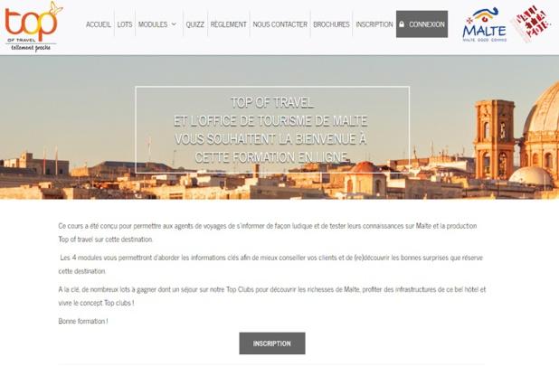 La formation en ligne lancée par Top of Travel en partenariat avec l'OT de Malte - DR Capture écran