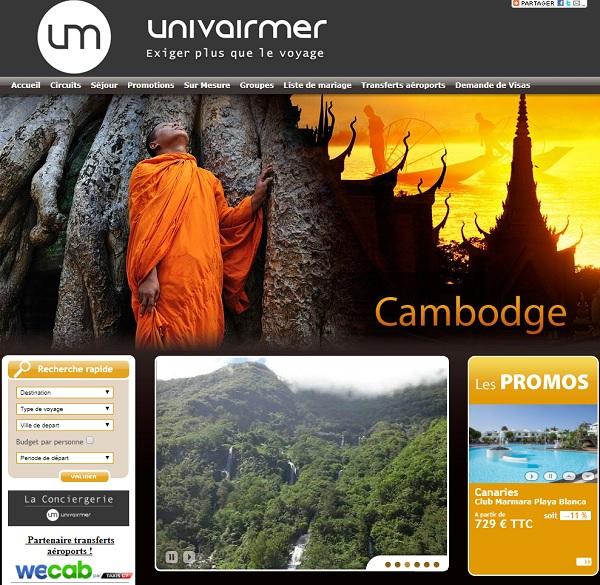 Capture écran du site Univaimer