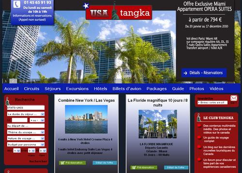 Tangka Voyages lance un nouveau site B2C vers les USA