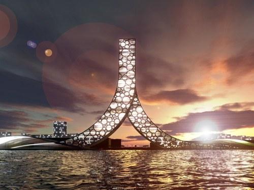 L'Édifice REN est un projet d'hôtel, de salle de conférences et un complexe sportif.  L'édifice comportera plus de 1000 chambres d'hôtel. Visuellement, il représente le signe chinois de l'homme (人= ren)