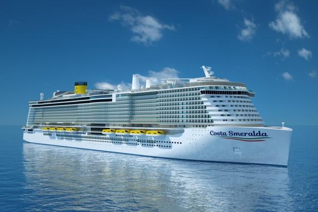 Le Costa Smeralda sera, en 2019, parmi les premiers navires propulsés au GNL. Visuel Costa Croisières.