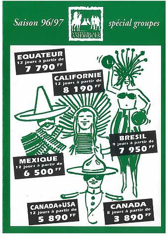 """La première brochure """"Visiteurs"""" en 1996."""
