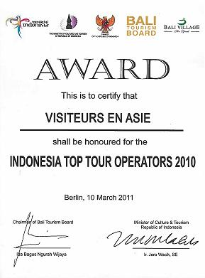 """Au commencement ce fut """"Visiteurs Indonésie""""."""
