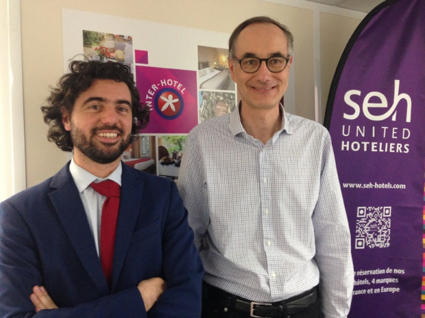Matteo Dell'Orto, responsable du service commercial Groupes et Stéphane Barrand, directeur général de SEH. - CL