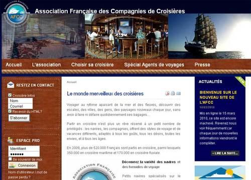 Le nouveau site de l'association afcc-croisières.fr répertorie les agences de voyages labellisées