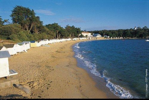 Cabines de la plage de Noirmoutier