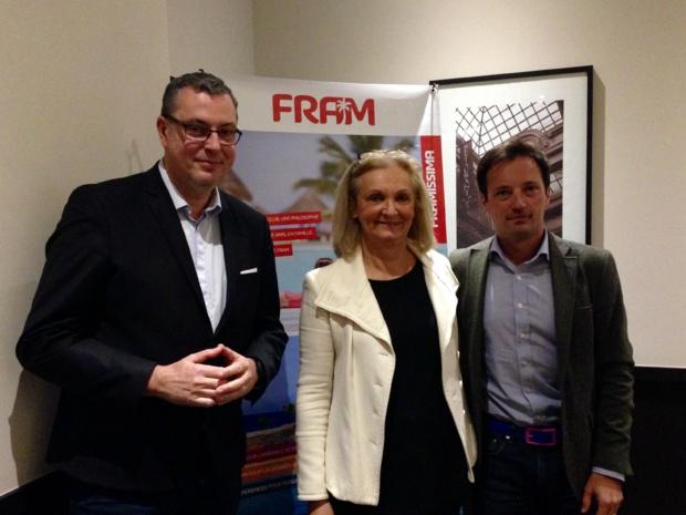 Michel Quenot, Directeur général de Fram, France-Line Michon, directrice commerciale et Frédéric Granel, DG adjoint. - CL