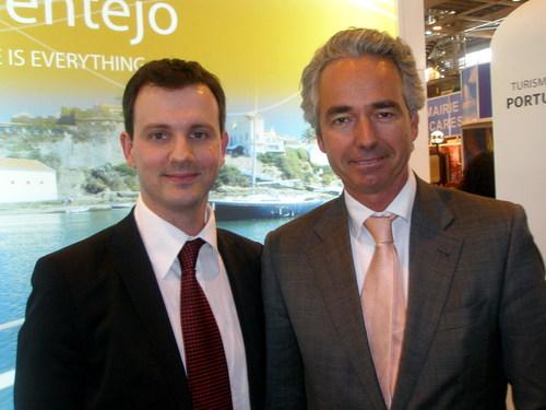 Jean-Pierre Pinheiro, Directeur de l'Office du Tourisme du Portugal et Bernardo Trindade, Secrétaire d'Etat au Tourisme du Portugal