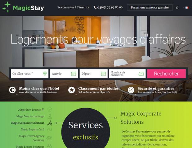 Le site MagicStay.com - DR