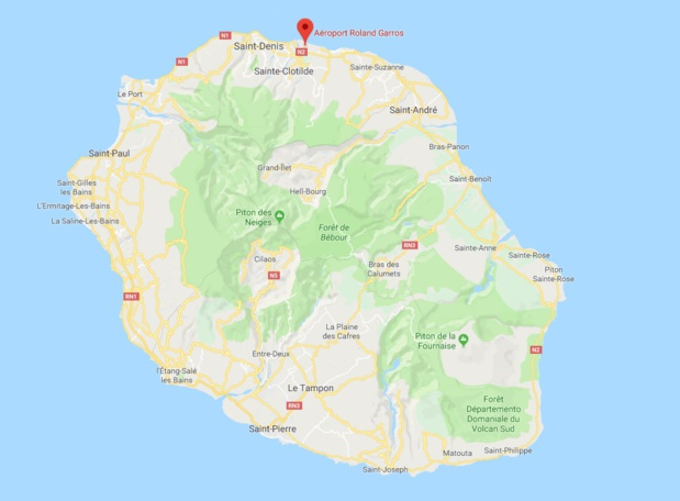 Laéroport de la Réunion Roland Garros est fermé ce jeudi 18 janvier 2018 en raison de la tempête Berguitta - DR