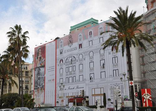 Negresco à Nice : l'hôtel en chantier habille sa façade