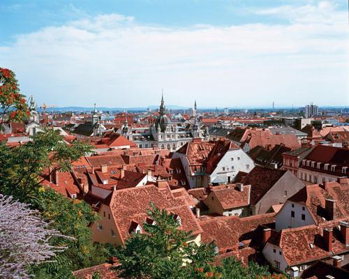 Le centre historique de la ville de Graz, seconde du pays.