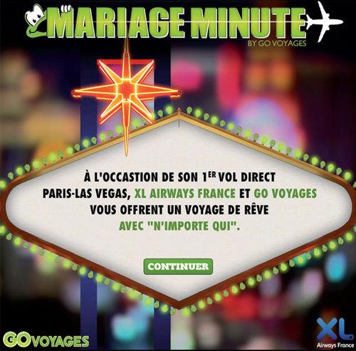 Facebook : Go Voyages et XL Airways marient leurs fans à Las Vegas