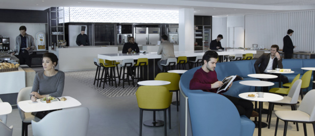 Les espaces de restauration sont à l'honneur dans le nouveau salon - DR Air France