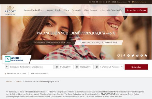 Notre priorité est d'aller chercher le client en direct à travers nos forces commerciales et nos sites internet. Nous collaborons également avec les OTA's, les tour-opérateurs et les TMC - DR capture écran