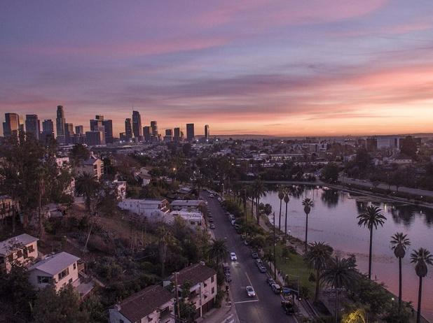 Echo Park Lake, Los Angeles - Photo Adoramassey / wikicommons