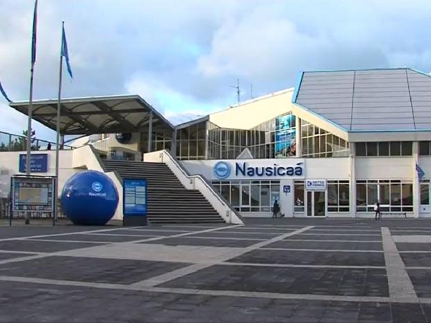 Entrée du centre national de la mer Nausicaa à Boulogne-sur-Mer - photo wikicommons Fraizzz