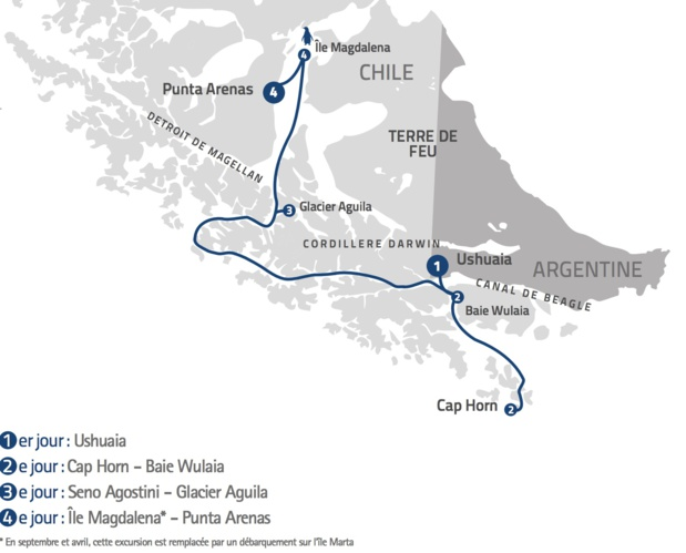 """I. """"Ventus Australis"""" : J'ai testé pour vous la nouvelle croisière Ushuaïa-Punta Arenas..."""