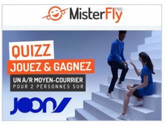 MisterFly fait gagner des vols avec Joon aux agents de voyages
