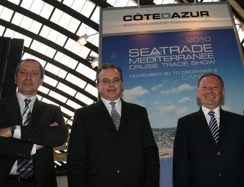 de g à dr: Denis Zanon, Dimitri Triadafidillis et Rudy Salles /photo J.B.