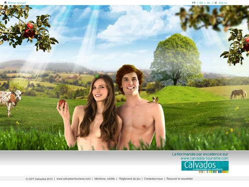 Web : Guillaume le Conquérant, Adam et Eve mis en vedette par le CDT du Calvados