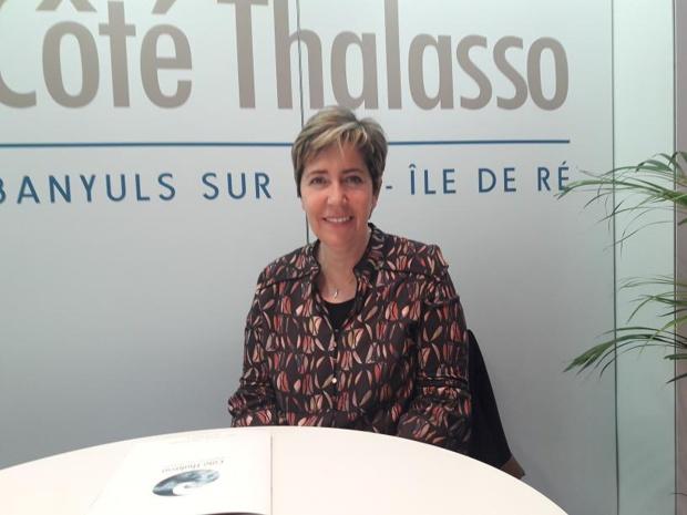 Marie Perez Siscar présidente de France Thalasso. Ici aux Thermalies de Paris. MS.